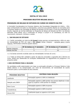 EDITAL DE ABERTURA DE BOLSAS 2016.1