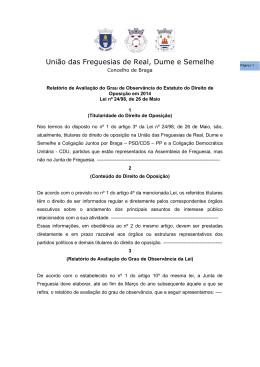 Relatório Observância do Direito de oposição 2015