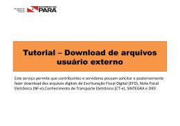 Tutorial – de arquivos usuário externo