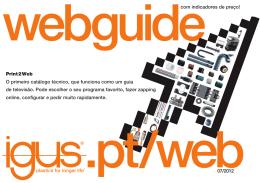 Print2Web O primeiro catálogo técnico, que funciona como