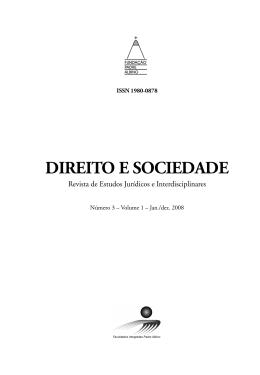 revista DIREITO E SOCIEDADE