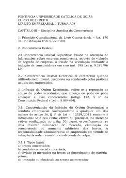 disciplina jurídica da concorrencia