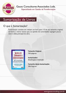 Livro: Manual de Treinamento e Desenvolvimento