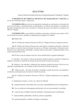 Ato nº 577/2014 - Tribunal Regional do Trabalho 7ª Região