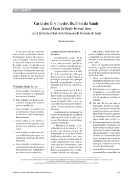 Carta dos Direitos dos Usuários da Saúde