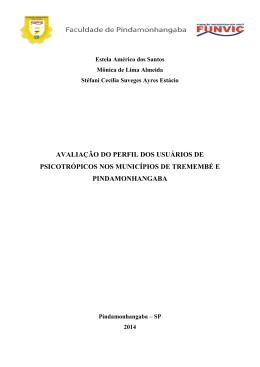 avaliação do perfil dos usuários de psicotrópicos nos municípios de