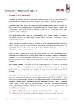 INSTRUÇÕES DE PREENCHIMENTO DO EXT 1