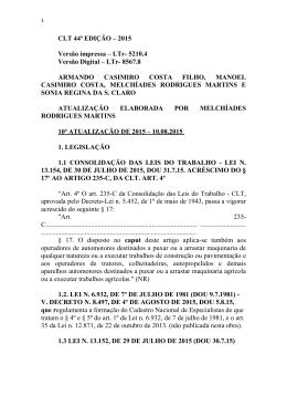 CLT 44ª EDIÇÃO – 2015 Versão impressa – LTr