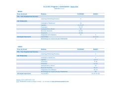 SCORE Program | CRONOGRAMA - Edição 2015