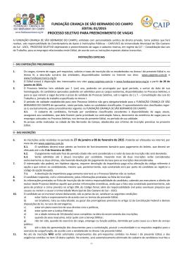 fundação criança de são bernardo do campo edital 01/2015