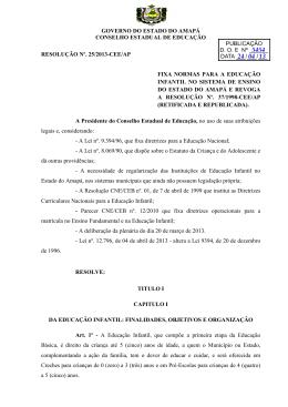 governo do estado do amapá conselho estadual de educação