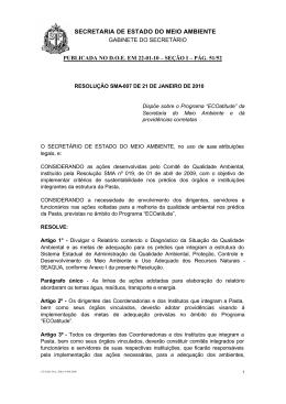 - Secretaria do Meio Ambiente do Estado de São Paulo