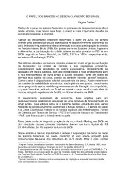 O PAPEL DOS BANCOS NO DESENVOLVIMENTO DO