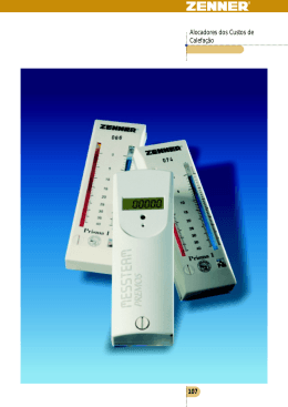 Alocadores dos Custos de Calefação 107
