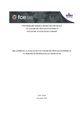Relatório da Avaliação da FCE na Percepção do Discente