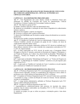 regulamento para realização do trabalho de conclusão de curso em