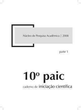 caderno de iniciação científica