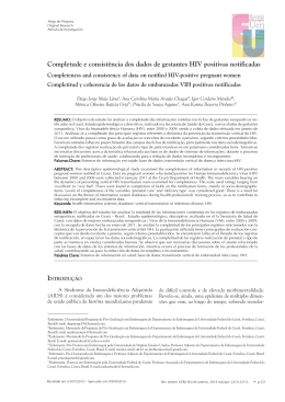 Completude e consistência dos dados de gestantes HIV positivas