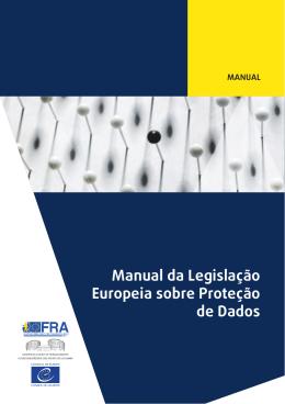 Manual da Legislação Europeia sobre Proteção de Dados