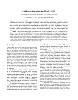 Qualidade dos dados e Interoperabilidade em SIG