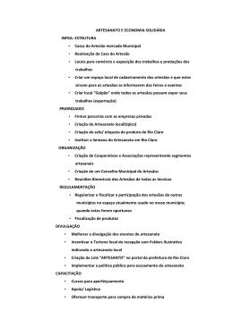 ARTESANATO E ECONOMIA SOLIDÁRIA INFRA