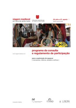 programa da consulta e regulamento de participação