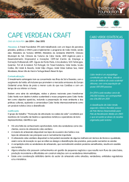 CAPE VERDEAN CRAFT - The Travel Foundation