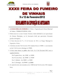 1 . A XIX FEIRA DO FUMEIRO de Vinhais é Organizada pela