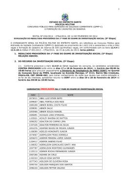 Edital 034 - Polícia Militar do Espírito Santo