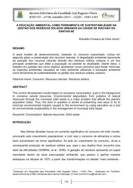 A EDUCAÇÃO AMBIENTAL COMO FERRAMENTA DE