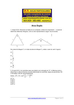 Trigonometria – Arco Duplo