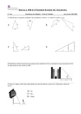 Nos triângulos rectângulos seguintes determine a medida que falta