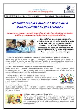 Comunicado 08 - Colégio Iguatemy