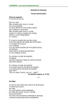 Oswaldo de Camargo Textos selecionados Grito de angústia Dê