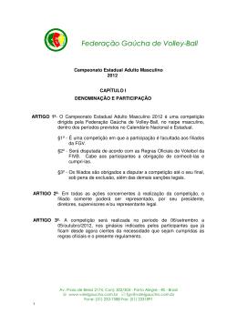 Versão para imprimir - pdf - Federação Gaúcha de Volley-Ball