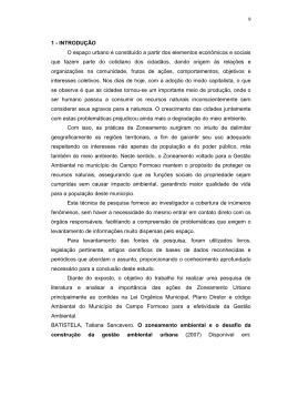 Zoneamento URBANO E GESTÃO AMBIENTAL (Pinto J. S.)