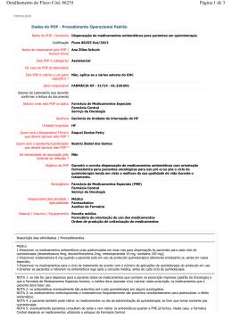Fluxo 86255/13 - Dispensação de medicamentos antieméticos na
