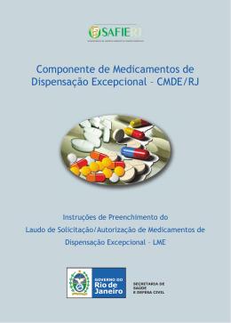 cartilha de fornecimento de medicamentos excepcionais