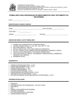 Formulário de Dispensação de Medicamentos para