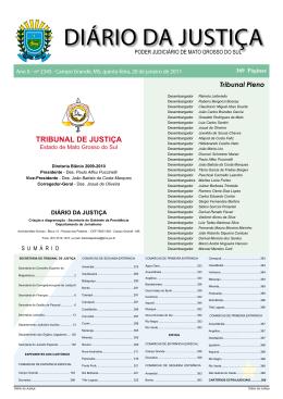 Diário da Justiça 20-01