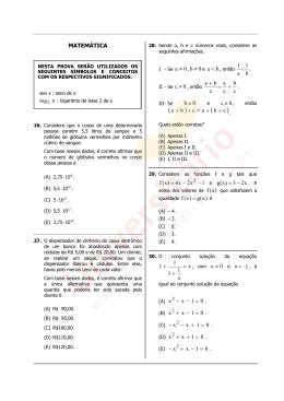 Prova de Matemática   Vestibular UFRGS 2012
