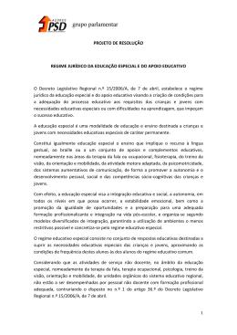Regime Jurídico da Educação Especial e do Apoio Educativo.