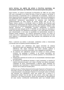 NOTA OFICIAL DA AMPID EM APOIO A