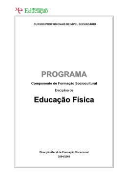 Viso Geral do Programa - Catálogo Nacional de Qualificações