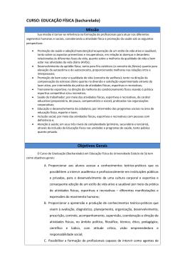 EDUCAÇÃO FÍSICA - Universidade Estácio de Sá