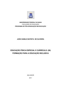 educação física especial e currículo - RI UFBA