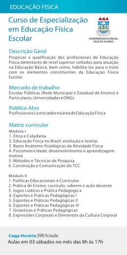 Curso de Especialização em Educação Física Escolar