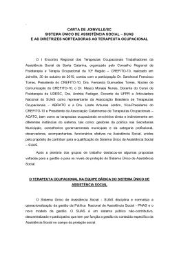 carta de joinville/sc sistema único de assistência