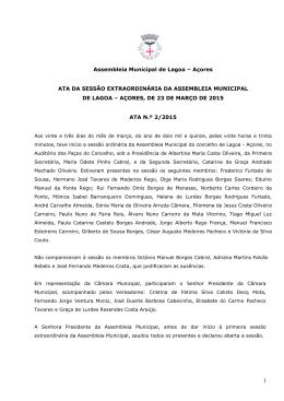 ATA N.º 2/2015 - município de lagoa