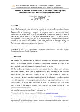 Padrão (template) para submissão de trabalhos ao